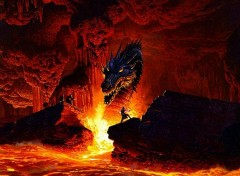 Fonds d'�cran Fantasy et Science Fiction Dragon in the fire