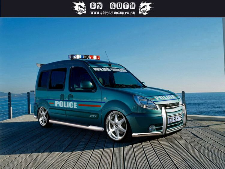 wallpapers cars wallpapers tuning kangoo de police by. Black Bedroom Furniture Sets. Home Design Ideas
