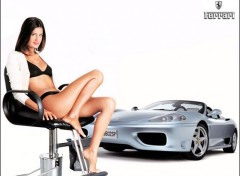 Wallpapers Cars Ferrari + Pin-Up