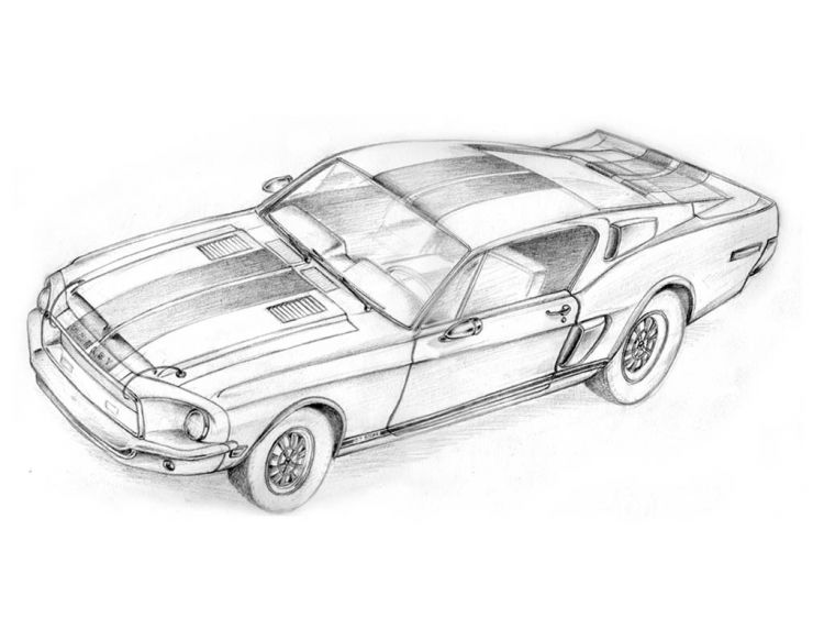 Free coloring pages of d gt500 shelby for Shelby mustang coloring pages