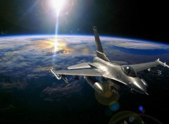 Fonds d'�cran Avions F16 in space