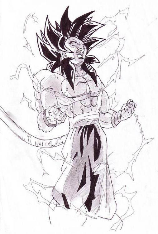 Dragon Ball Z Pencil Drawings