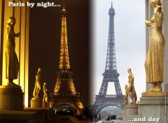 Fonds d'�cran Voyages : Europe Paris by night and day