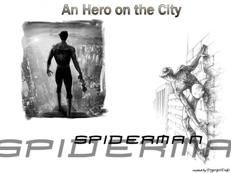 Fonds d'�cran Comics et BDs Spider Man An hero on the city
