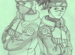 Fonds d'cran Art - Crayon Kakashi et Iruka (Naruto)