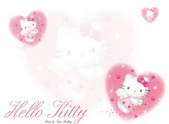 Fonds d'�cran Dessins Anim�s Kitty pink