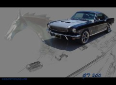 Fonds d'�cran Voitures FORD MUSTANG GT 500