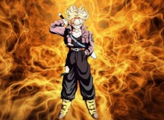 Fonds d'�cran Manga trunks feu