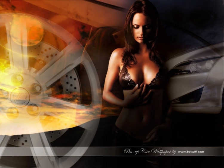 Wallpapers Cars Girls and cars Pin-up Car Wallpaper 2005 by bewall.com