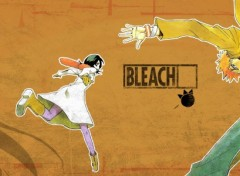 Wallpapers Dual Screen RUN! (ichigo + rukia)