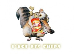 Fonds d'�cran Humour scrat&chips