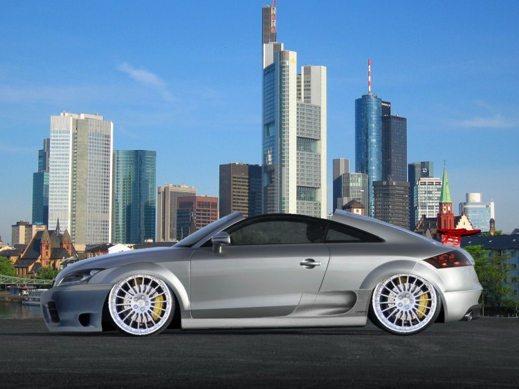 Fonds d'�cran Voitures Tuning Nouvelle Audi TT 2007 Fa�on V-tuning !!!