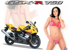 Fonds d'�cran Motos GSX-Girl