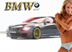Wallpapers Cars BMW Jessica alba