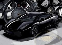 Fonds d'�cran Voitures Lamborghini - Gallardo (Nera)