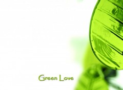 Fonds d'�cran Art - Num�rique Green Love