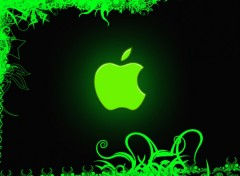 Fonds d'�cran Informatique Green Apple