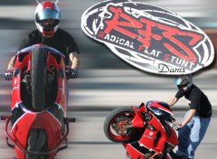 Fonds d'�cran Motos Stunt 1