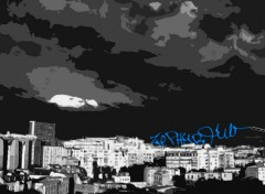 Fonds d'�cran Art - Num�rique city at night