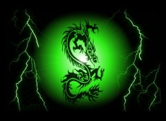 Fonds d'�cran Fantasy et Science Fiction dragon vert