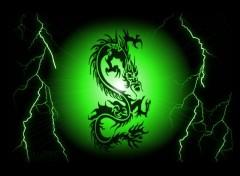 Fonds d'�cran Fantasy et Science Fiction dragon vert