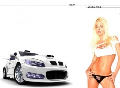 Wallpapers Cars bmw vs Jesse Jane