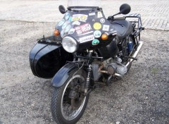 Fonds d'�cran Motos BMW avec side-car
