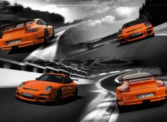 Fonds d'�cran Voitures WIDE - Porsche GT3 RS type 997