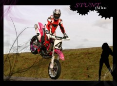 Fonds d'�cran Motos stunt