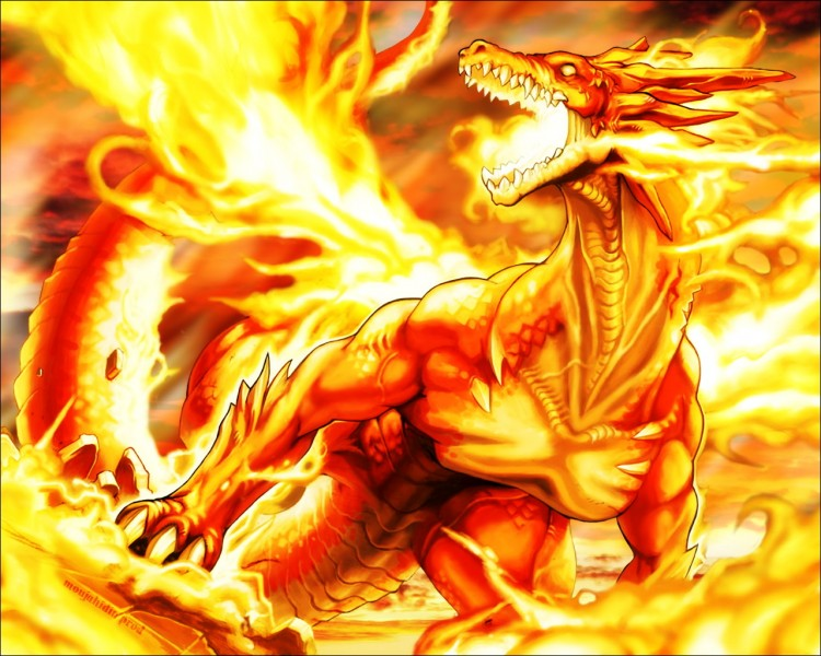 Wallpapers Fantasy And Science Fiction Creatures   Dragons Fire Dragon