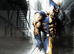 Fonds d'�cran Comics et BDs CIVIL WAR: Wolverine ' UrbaN ProoF '