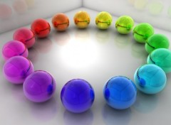 Fonds d'�cran Art - Num�rique Rainbow Ballz