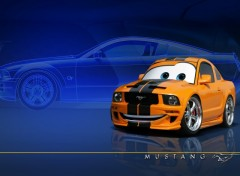 Wallpapers Cartoons Pixarized Mustang