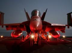 Fonds d'�cran Avions F-18 Sur Porte Avion