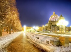 Fonds d'�cran Constructions et architecture A Chilly Night in Boston