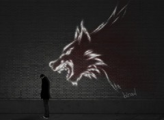 Fonds d'�cran Art - Num�rique wolf wall