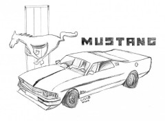 Wallpapers Art - Pencil mustang gt500