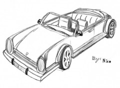 Wallpapers Art - Pencil prototype : porche