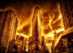 Fonds d'cran Constructions et architecture NewYork en flammes