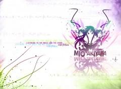 Wallpapers Manga K-ON! Akiyama Mio