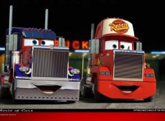 Fonds d'�cran Dessins Anim�s Optimus meets Mack