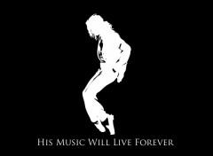Fonds d'�cran Musique Michael Jackson : His Music Will Live Forever