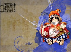 Wallpapers Manga Luffy en vacances