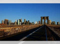 Fonds d'�cran Constructions et architecture On the Brooklyn Bridge