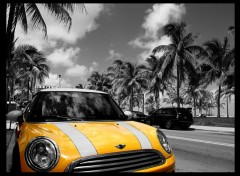 Fonds d'�cran Voitures Mini on Miami Beach front drive