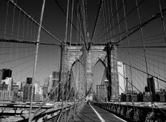 Fonds d'�cran Constructions et architecture Brooklyn Bridge in B&W