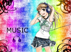 Fonds d'�cran Manga Music