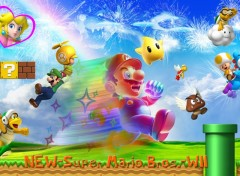 Fonds d'�cran Jeux Vid�o New Super Mario Bros. Wii