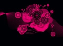 Fonds d'�cran Art - Num�rique electro wallpaper rose