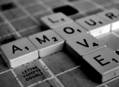 Fonds d'�cran Art - Num�rique SCRABBLE LOVE